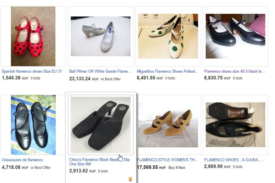 flamenco cipő ebay