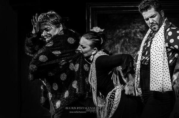 Antonio Canales, La Lupi és Angel Rojas flamenco