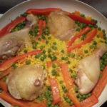 Csirkés paella