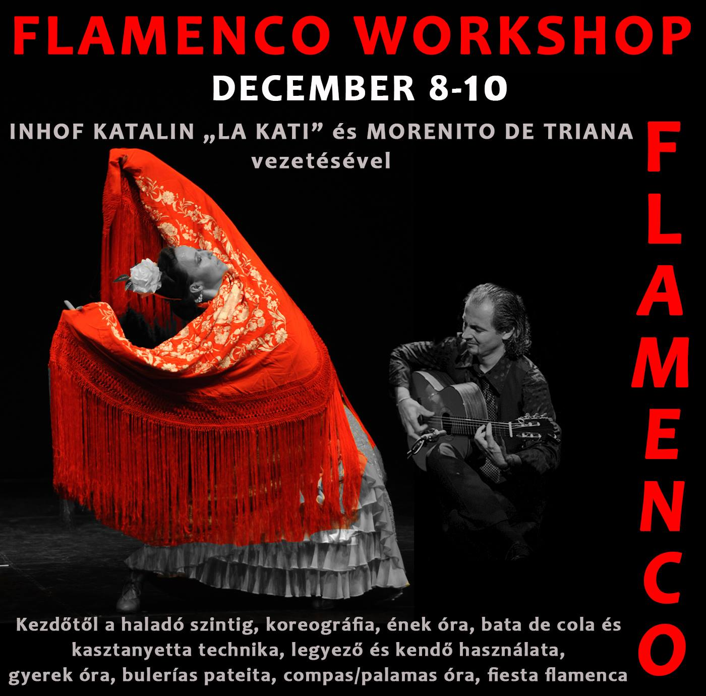 flamenco workshop élő zenére Inhof Katival