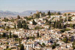 Granada fehér házak
