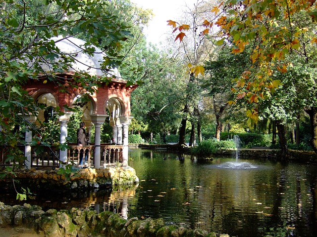 spanyol kert Maria Luisa Park Sevilla