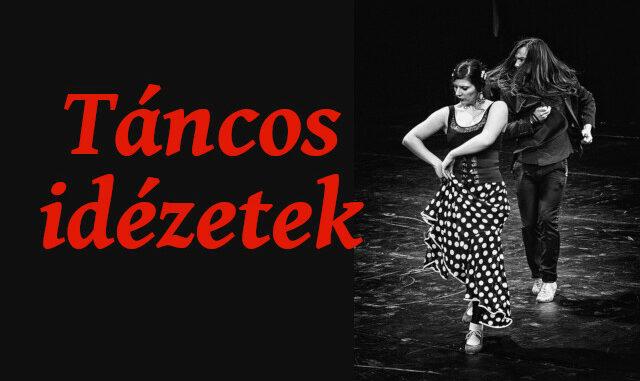 táncról szóló idézetek Táncos idézetek   Flamenco Portál
